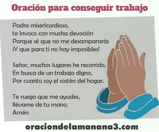 Oración para conseguir trabajo