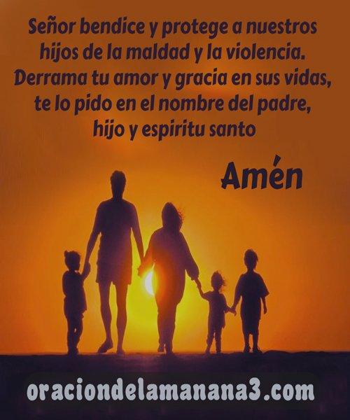 oración matutina para bendecir a los hijos