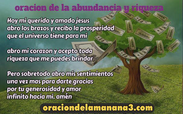Oración de la abundancia y riqueza