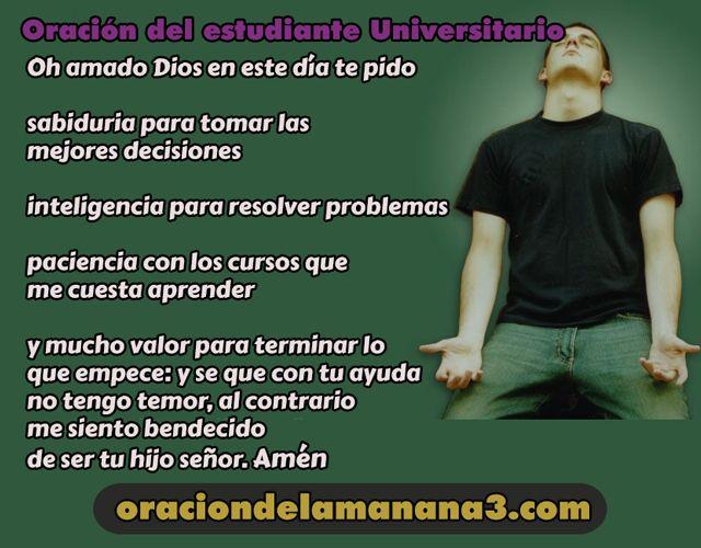 Oración del estudiante universitario