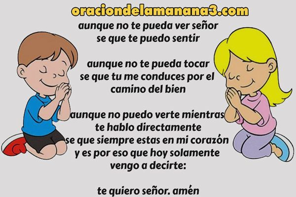 Oración para niños cristianos