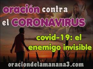 Oración contra el coronavirus COVID-19