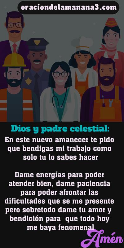 Oración para bendecir el trabajo