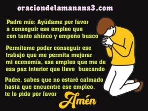 Oración para conseguir empleo