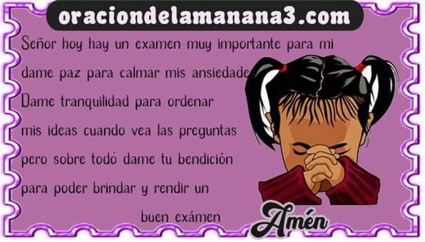 Oración para antes de un examen difícil