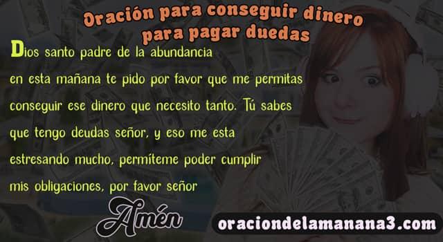 Oración para conseguir dinero y pagar deudas