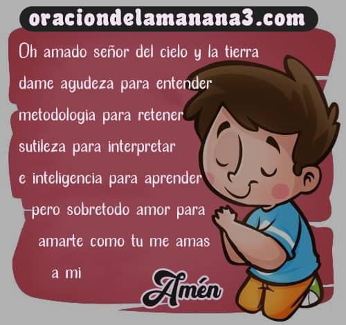 Oración para estudiar y concentrarse
