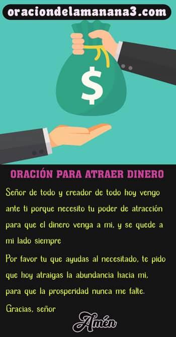 Oración matutina para atraer el dinero
