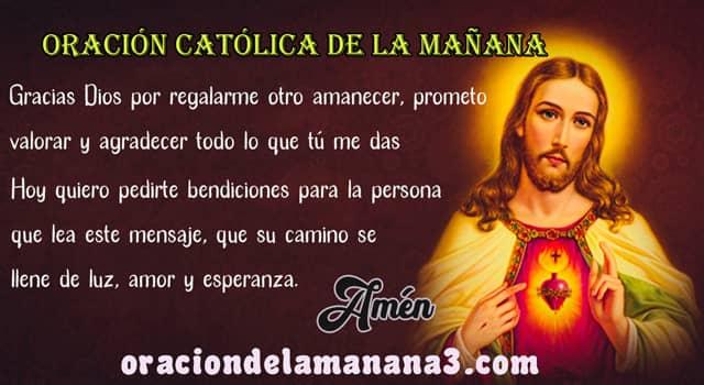 Poderosa oración matutina católica al despertar