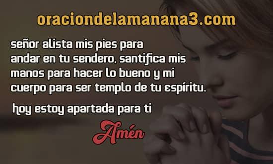 Oración para pedir a Dios que te santifique al amanecer
