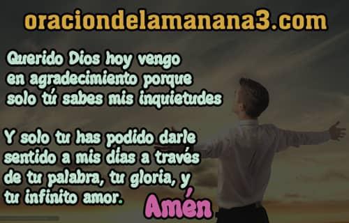 Oración de agradecimiento a DIos por todo