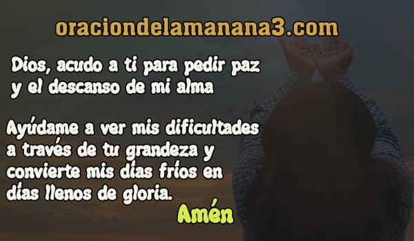 oración a Dios para pedir serenidad y calma