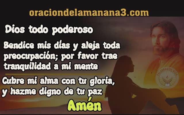 oracion a DIos para tener paz mental libre de preocupaciones