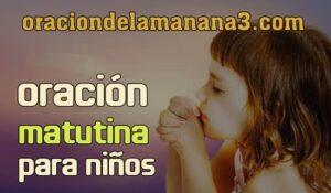 Oración matutina para niños